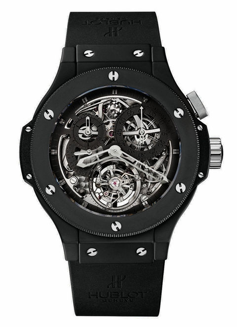 2007 replica hublot all black watch