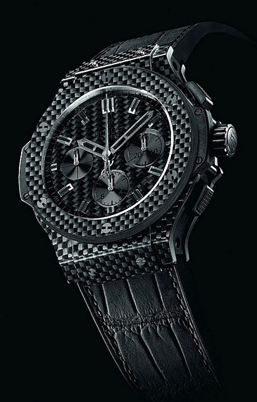 hublot replica all black carbon